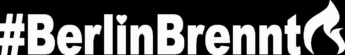 Schriftzug BerlinBrennt weiß